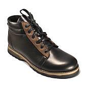 Ботинки мужские зимние кожаные на меху спорт Rosso Avangard Bridge Sport E Trend Black черные коричневые