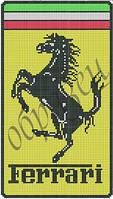Схема для вышивки бисером Феррари. Логотип КМР 4146