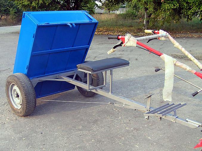 "Прицеп-самосвал для мотоблока ТМ ""Ярило"" разборный (125х100х35 см) под жигул. ступицу (без колес)"