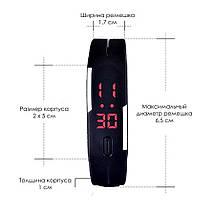 Часы наручные электронные ЛЕД часы LED Digital Watch Черные, фото 3