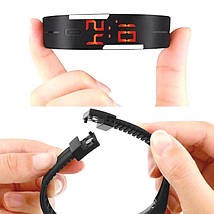 Часы наручные электронные ЛЕД часы LED Digital Watch Черные, фото 2