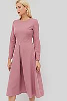 Приталенное расклешенное платье из креп-костюмной ткани (Marmaris crd)