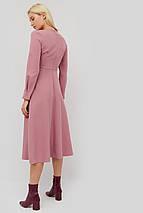 Приталенное расклешенное платье из креп-костюмной ткани (Marmaris crd), фото 2