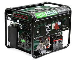 Генератор бензиновый IRON ANGEL  EG5500E3-М  (5,2 кВт, эл.стартер, 3 фазы, аккум. на 18Ач) + доставка
