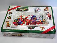 Шоколадные конфеты Maitre Truffout в новогодней металлической коробке