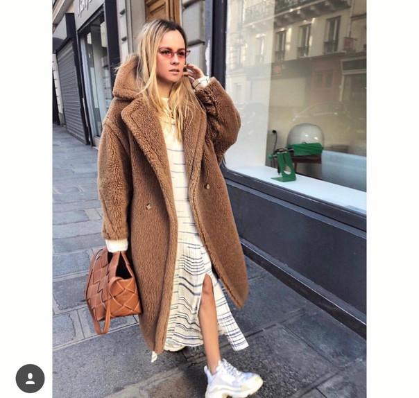Женское самое эффектное нашумевшее меховое пальто-шуба в стиле Max Mara c216265a9b54f