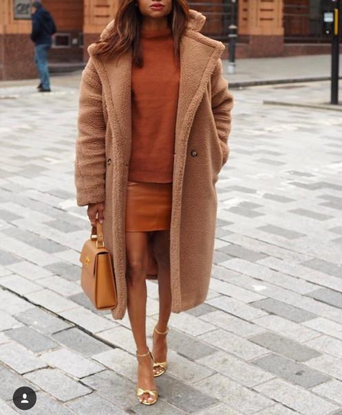 ab0fd82a5ccd Женское самое эффектное нашумевшее меховое пальто-шуба в стиле Max Mara
