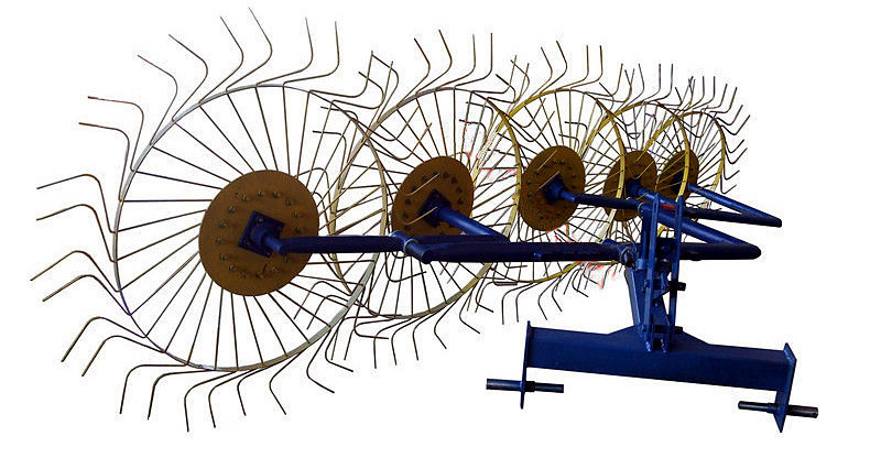 """Грабли ворошилки """"Солнышко"""" 5-ти колёсные (Ø6 мм)"""
