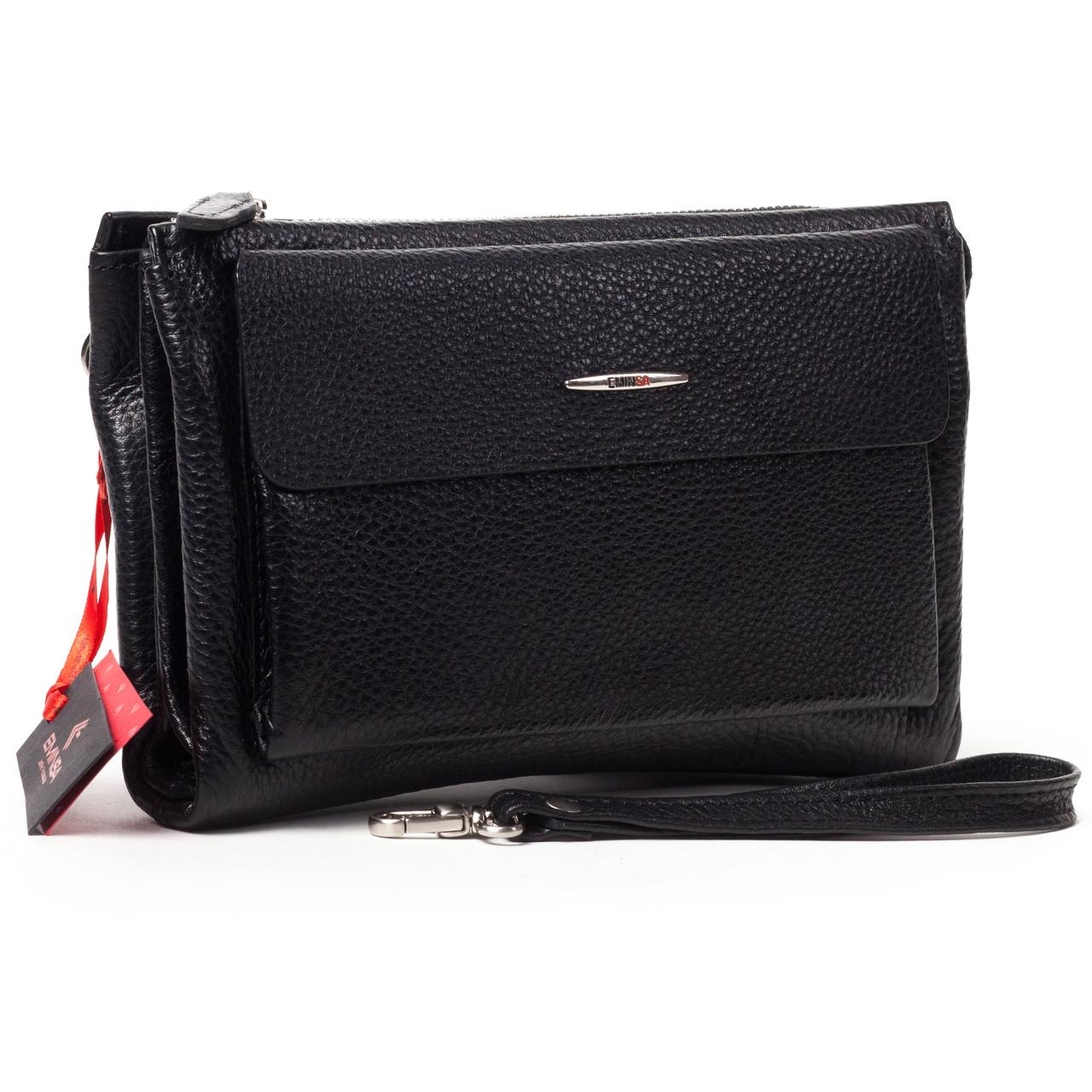 Мужской клатч кожаный чёрный Eminsa 5002-18-1
