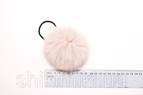 Помпон из меха кролика (7-9 мм), цвет Карамелька