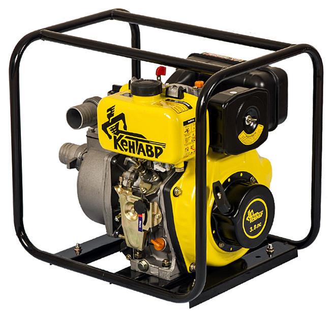 Мотопомпа дизельная Кентавр КДМ50 (для чистой воды, 22 м. куб/час, ручной старт) + доставка