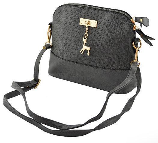 7b6d2db0677a Модная женская сумка через плечо Бемби ( цвет - черная, красная, серая,  фиолетовая