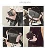 Городской женский рюкзак черный с розовым, фото 2
