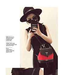 Рюкзак городской женский черный с красным