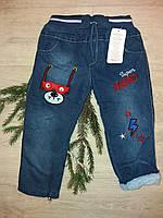 Детские утепленные джинсы на меху для мальчиков, фото 1