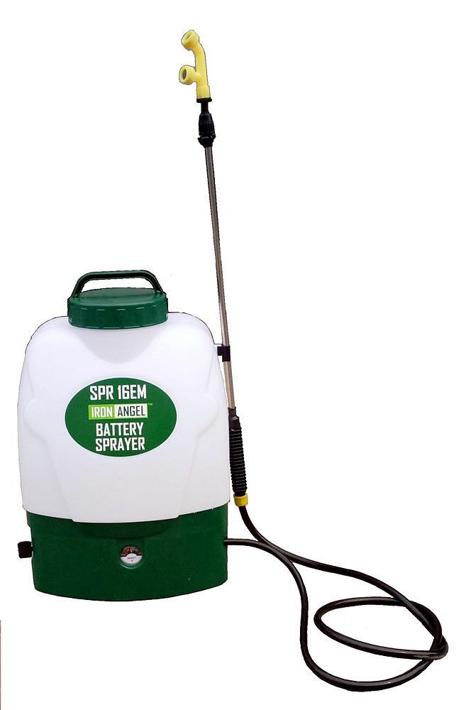 Опрыскиватель садовый аккумуляторныйIron Angel SPR16EМ (16 л, радиус распыления 12 м, регулятор давления)