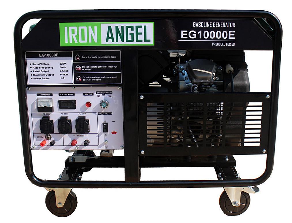 Генератор бензиновый IRON ANGEL  EG 10000E   (8,5 кВт, электростартер) Бесплатная доставка