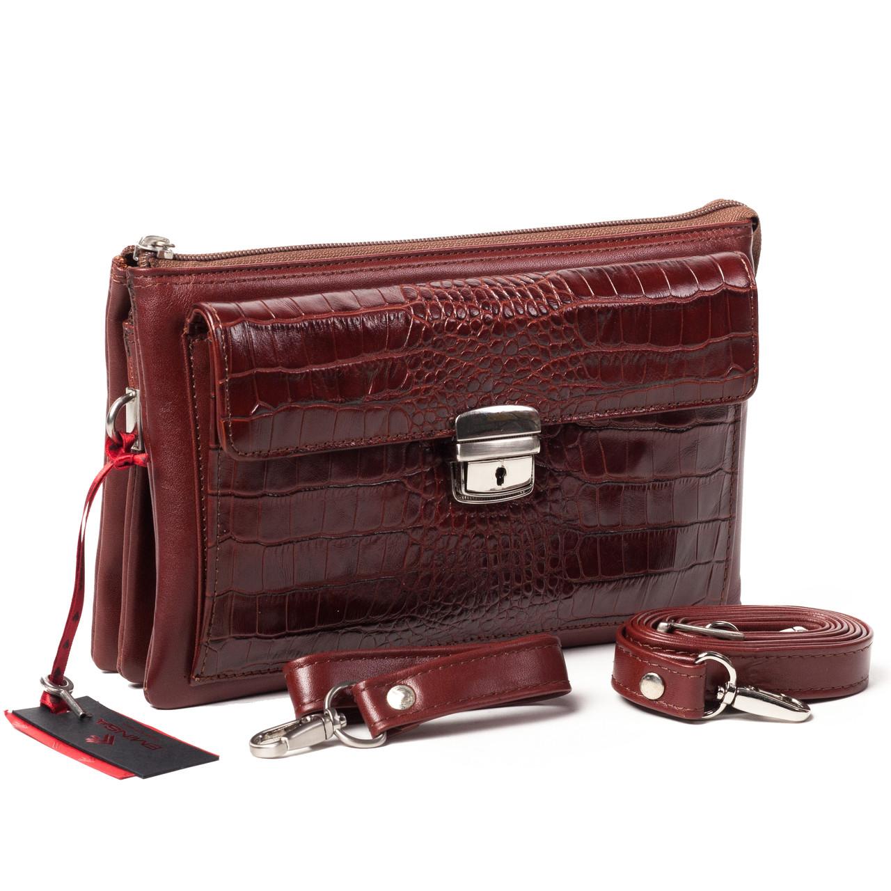 Мужской клатч Eminsa 5077-4-2 кожаный коричневый