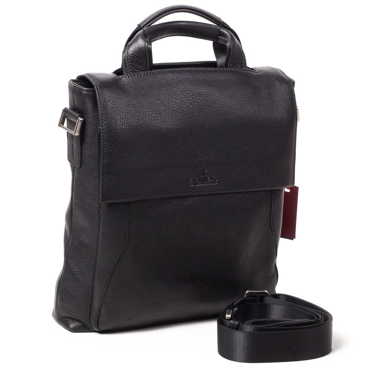 Мужская сумка Eminsa 6019-12-1 кожаная черная