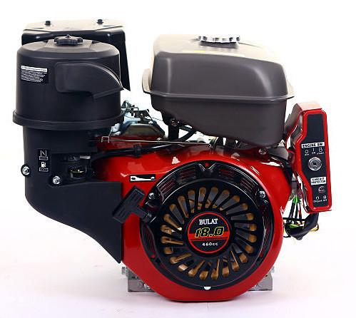 Двигатель бензиновый BULAT  BW192FE-S (18 л.с., шпонка Ø25мм, L=72мм, эл.стартер) + доставка