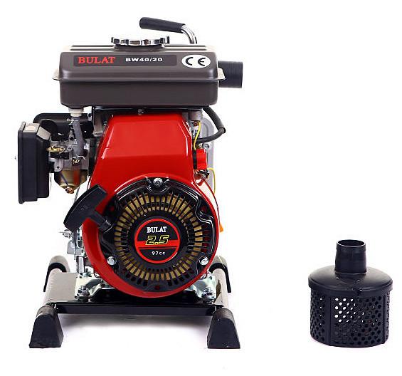 Мотопомпа бензиновая BULAT  BW40/20 (30 м.куб/час, 40 мм патрубок) Бесплатная доставка