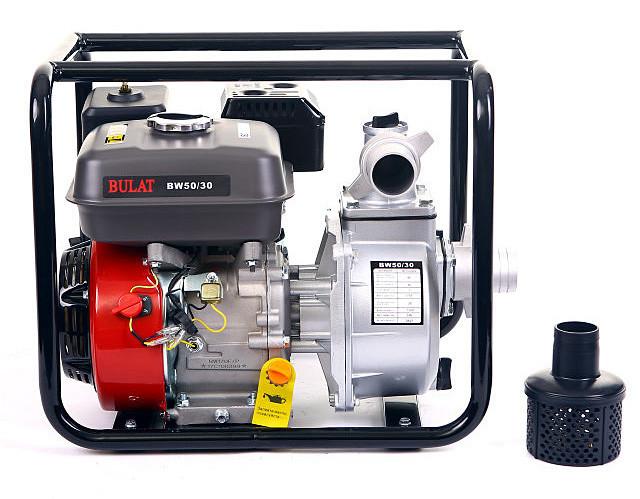 Мотопомпа бензиновая BULAT  BW50/30 (бензин, патрубок 50мм, 36куб/час) Бесплатная доставка