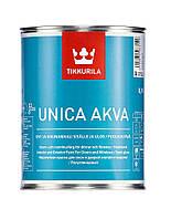 Краска Unica Akva Tikkurila для окраски оконных и дверных рам, дверей и садовой мебели А 0,9 л