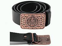 Ремень кожаный   ❇ ❈ ❉ Китайская Монета Счастья  ❇ ❈ ❉  пряжка амулет оберег