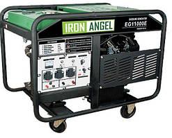Генератор бензиновый IRON ANGEL  EG 11000E   (10 кВт, электростартер) Бесплатная доставка