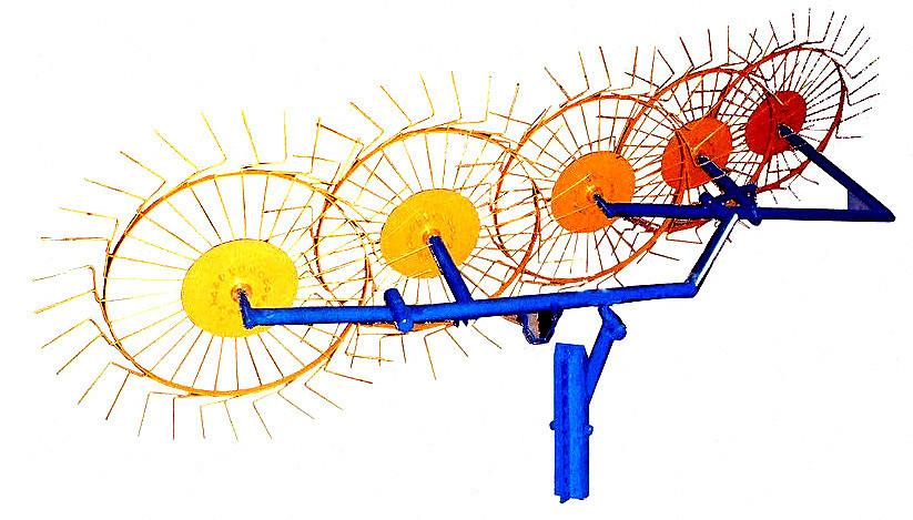 """Грабли-ворошилки Luxe ТМ """"Агромарка""""  (Ø5мм, 5 колёс)"""