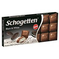 Шоколад Schogetten Black and White молочный шоколад с хрустящим бисквитом 100 гр