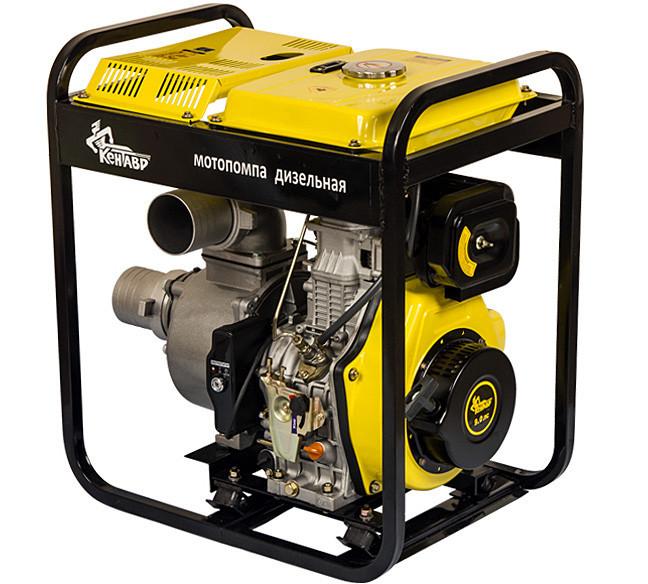 Мотопомпа дизельная Кентавр КДМ100БЕ (для чистой воды, 80 м. куб/час, электростартер) + доставка