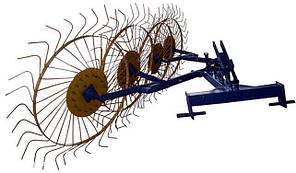 """Грабли ворошилки """"Солнышко"""" 5-ти колёсные ТМ Агромарка (Ø6 мм)"""