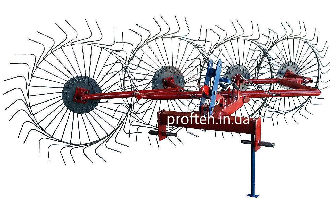 """Грабли ворошилки """"Солнышко"""" 4-ёх колёсные ТМ Агромарка (Ø6 мм, Украина-Польша)"""