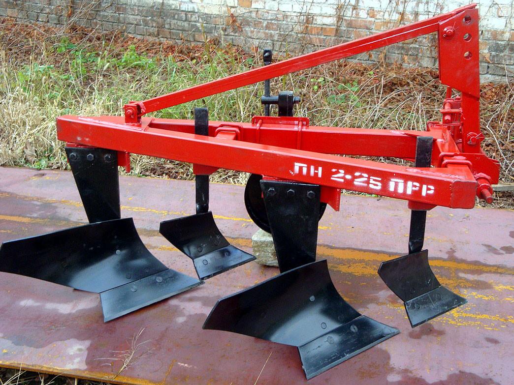 Плуг для минитрактора навесной 2-х корпусный с предплужником регулируемый ПН 2-25 ПР-Р