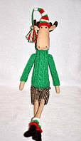 Кукла авторской работы в стиле Тильда «Лосёнок»