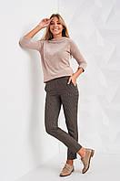 Женские прямые брюки с подворотом