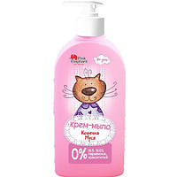 Крем-мыло  для девочек (Кошечка Муся) - Pink Elephant 250мл.