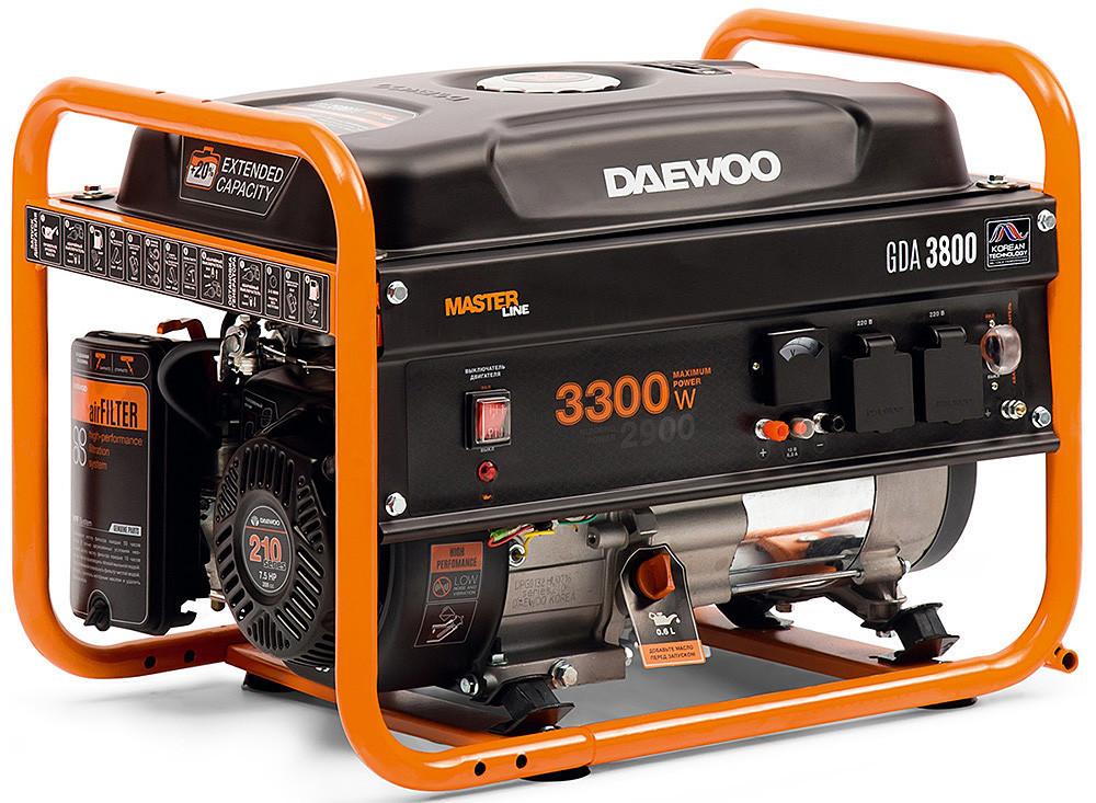 Бензиновый генератор Daewoo GDA-3800 (2,9 кВт, ручной стартер)