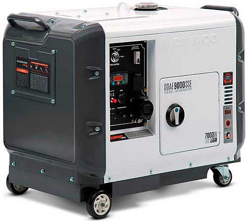 Генератор дизельный Daewoo DDAE 9000SSE  (6.4 кВт, электростартер)