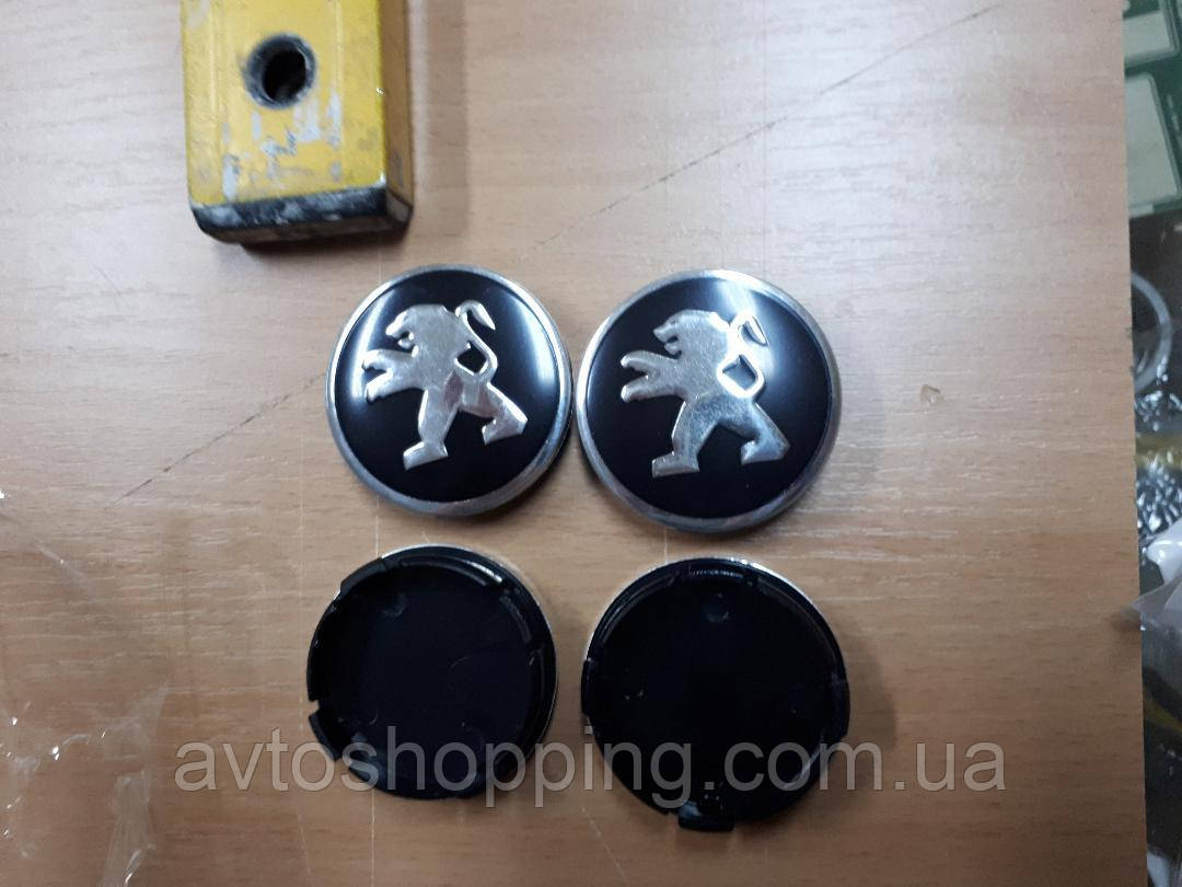 Колпачки, заглушки на диски Peugeot 206 207 208 307 308 3008 406 407 408 508, 60 мм / 57 мм