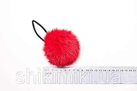Помпон из меха кролика (7-9 мм), цвет Красный
