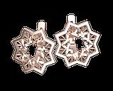 Серьги серебряные Звезда 41190, фото 2