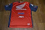 Футболка Honda HRC червоно-синя., фото 2
