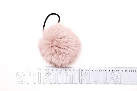 Помпон из меха кролика (7-9 мм), цвет Светло-розовый