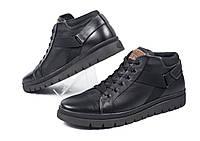 Спортивные мужские кожаные зимние ботинки Andante Black
