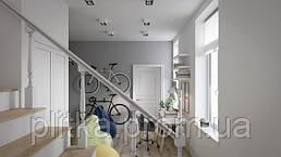 Квартира для молодой семьи с детьми.Дизайн квартиры-скандинавский стиль