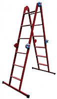 Лестница шарнирная «Трансформер» 4х4 (металл)