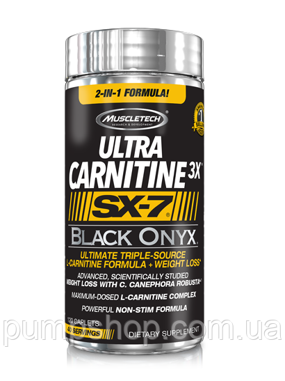 Л-карнітин MuscleTech Ultra Carnitine 3x SX-7 Black Onyx 120 капс.