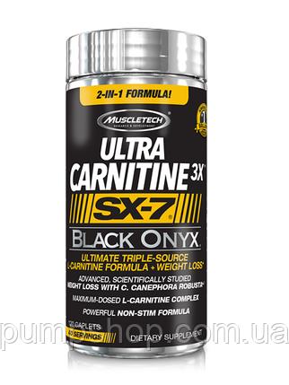 Л-карнітин MuscleTech Ultra Carnitine 3x SX-7 Black Onyx 120 капс., фото 2